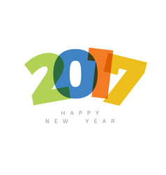 modern minimalistic happy new year card vector image