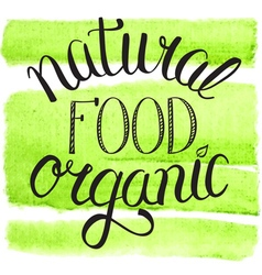 Natural organic food vector