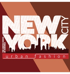 New york city typography graphic districts vector