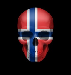 Norwegian flag skull vector