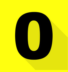 Number 0 sign design template element black icon vector