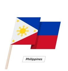 Philippines ribbon waving flag isolated on white vector