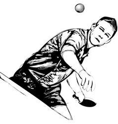 ping pong player vector image vector image