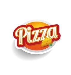 Pizza lettering - vector image