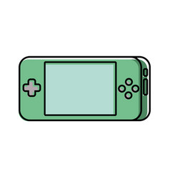 portable video game console gadget technology vector image