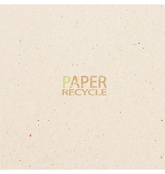 recycled paper craft stick on white background vector image