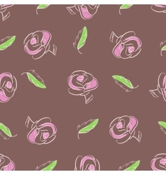 Roses and leaves vector