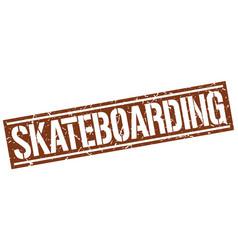 Skateboarding square grunge stamp vector
