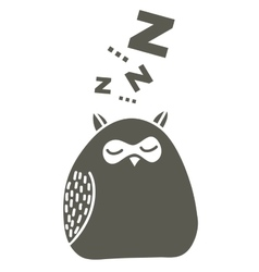Sleeping owl on the snow vector image vector image