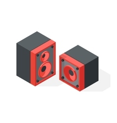 Stereo system isometric vector