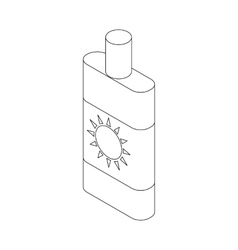 Sun lotion icon isometric 3d style vector