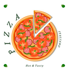 the sweet pizza vector image