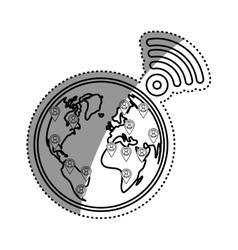World internet connection vector