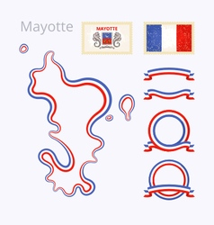 Colors of mayotte vector