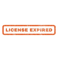 License expired rubber stamp vector