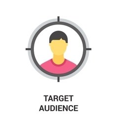 Target audience icon vector