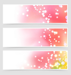 Bright shimmering seasonal web header set vector