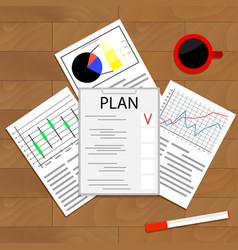 Economic planning checklist vector