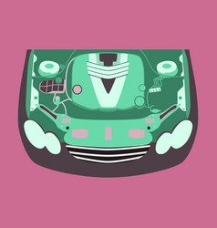 car motor vector image