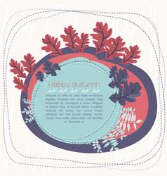 Autumn hand drawn greeting card vector