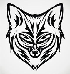Fox head tattoo design vector