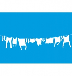 Washing lines vector