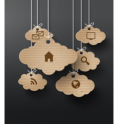 Cloud cardboard vector