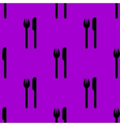 Cutlery knife fork web icon flat design seamless vector