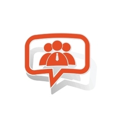User group message sticker orange vector