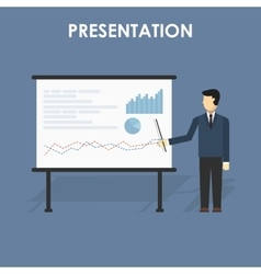 Businessman presenting vector