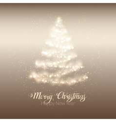 Christmas shining tree vector