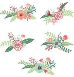 Wedding flower collection vector