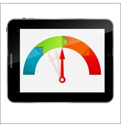 Abstract design Tablet with arrow for different vector image vector image