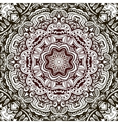 Abstract hand drawn vintage ethnic pattern vector image