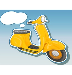 beautiful scooter vector image vector image
