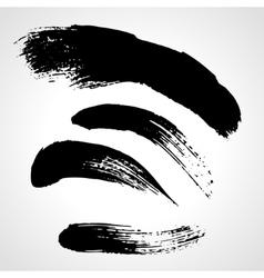 Black grunge hand drawn blobs set vector image vector image