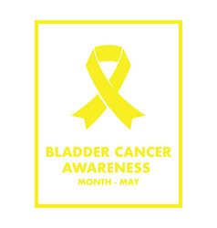 Bladder cancer awareness vector