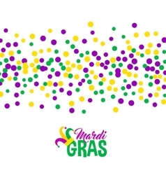 Bright abstract dot mardi gras pattern vector