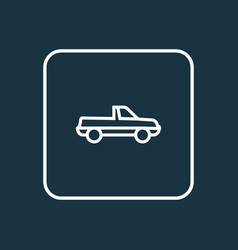 cabriolet outline symbol premium quality isolated vector image vector image