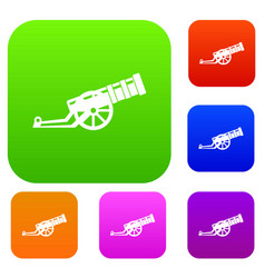 cannon set collection vector image