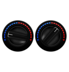 Car air flow selector black plastic switch vector