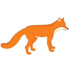 Cartoon red fox vector image vector image
