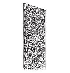 Carving is a norwegian pattern vintage engraving vector
