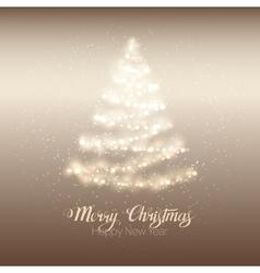 Christmas shining tree vector image vector image