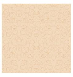 Curls on light brown seamless pattern vector