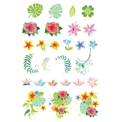 Decorative vegetation vector