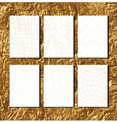 golden pattern for business paper vector image