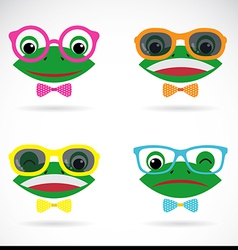 image of a frog wear glasses vector image vector image