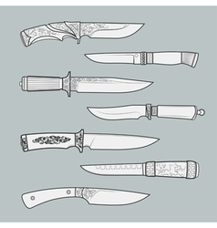 Knives3 vector image