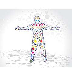 man raising his hands vector image